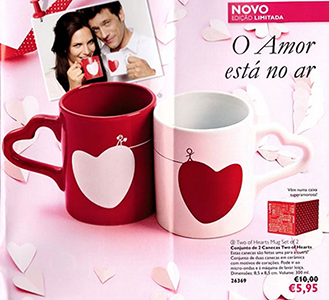 Conjunto de 2 Canecas Two of Hearts by Oriflame