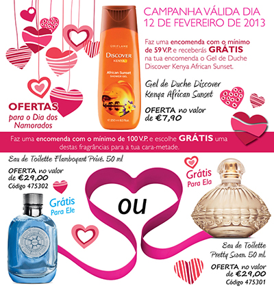Pré – Campanha Oriflame Dia dos Namorados!