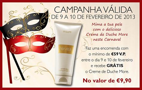 Neste Carnaval recebe More by Oriflame GRÁTIS...