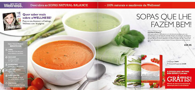 Wellness by Oriflame lançou as Sopas Natural Balance