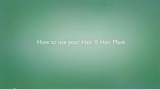 como utilizar a máscara capilar Hair X
