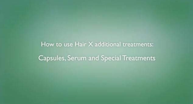 como utilizar os tratamentos adicionais Hair X