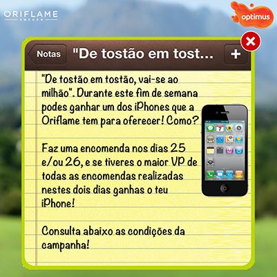 Queres ganhar um iPhone com a Oriflame?