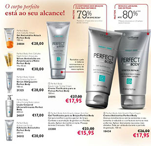 Gama Perfect Body Catálogo Oriflame 10