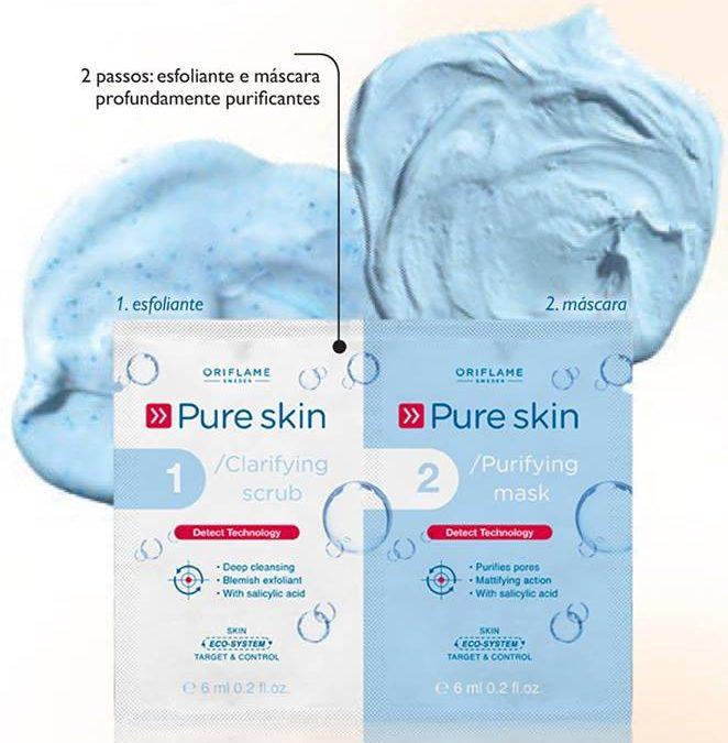 Esfoliante e Máscara Purificante em Saquetas Pure Skin