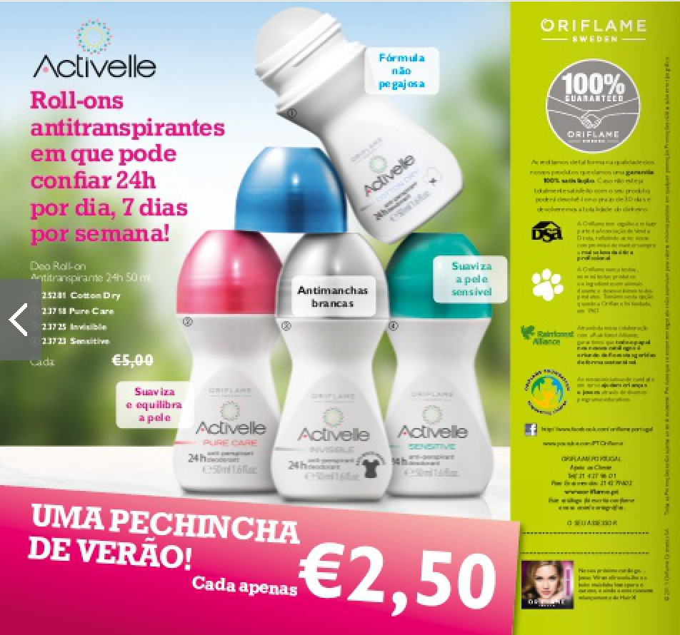 Roll Ons Oriflame a 2.5 Euros