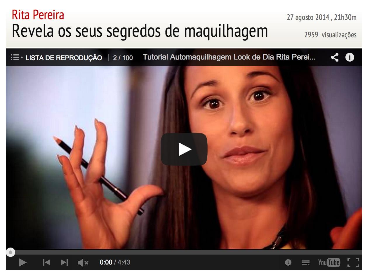 Maquilhagem Oriflame – Última Hora, Rita Pereira faz vídeo a automaquilhar-se!