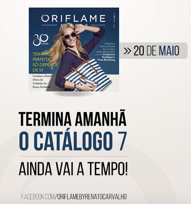 O Catálogo Oriflame 7 termina AMANHÃ! E…