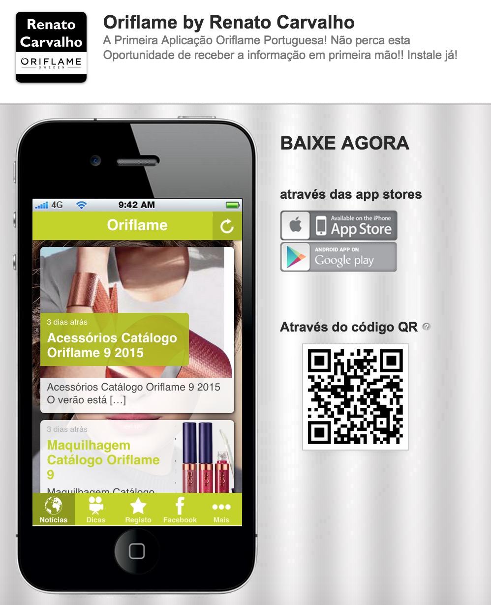 A primeira Aplicação Móvel da Oriflame de Portugal!