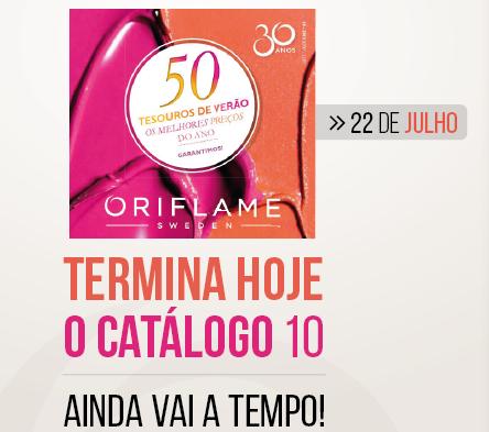 Catálogo Oriflame 10 Termina Hoje, 4.ª Feira às 22h! DESPACHE-SE!