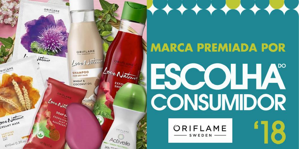 ORIFLAME PREMIADA –  Escolha do Consumidor 2018